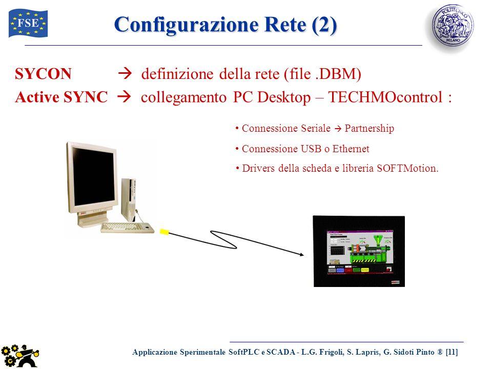 Applicazione Sperimentale SoftPLC e SCADA - L.G. Frigoli, S. Lapris, G. Sidoti Pinto ® [11] Configurazione Rete (2) SYCON definizione della rete (file