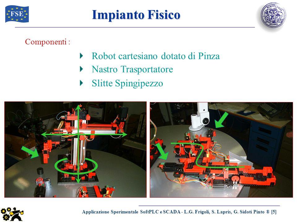 Applicazione Sperimentale SoftPLC e SCADA - L.G. Frigoli, S. Lapris, G. Sidoti Pinto ® [5] Impianto Fisico Componenti : Robot cartesiano dotato di Pin