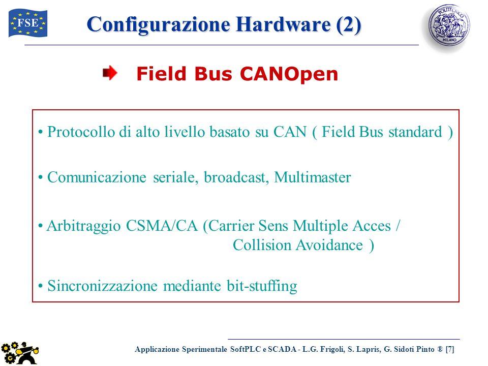 Applicazione Sperimentale SoftPLC e SCADA - L.G. Frigoli, S. Lapris, G. Sidoti Pinto ® [7] Configurazione Hardware (2) Protocollo di alto livello basa