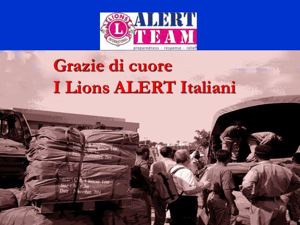 19 Grazie di cuore I Lions ALERT Italiani