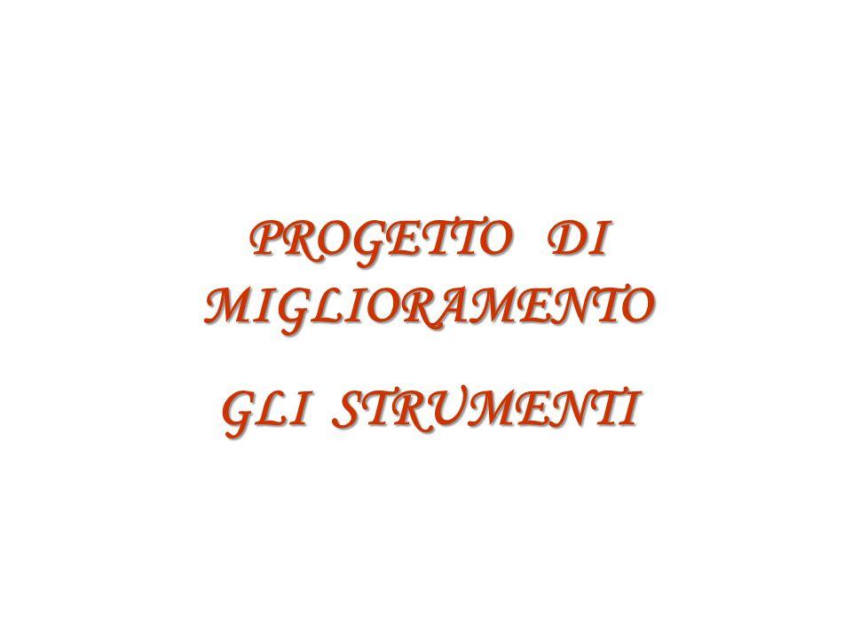 PROGETTO DI MIGLIORAMENTO GLI STRUMENTI
