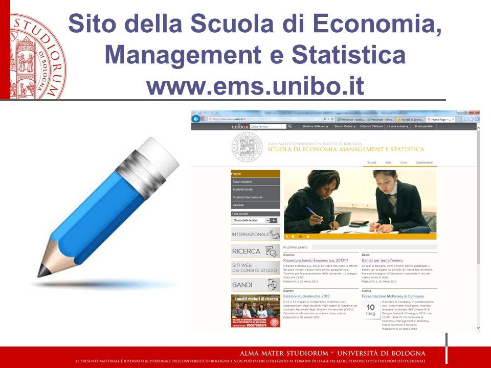 Sito della Scuola di Economia, Management e Statistica www.ems.unibo.it