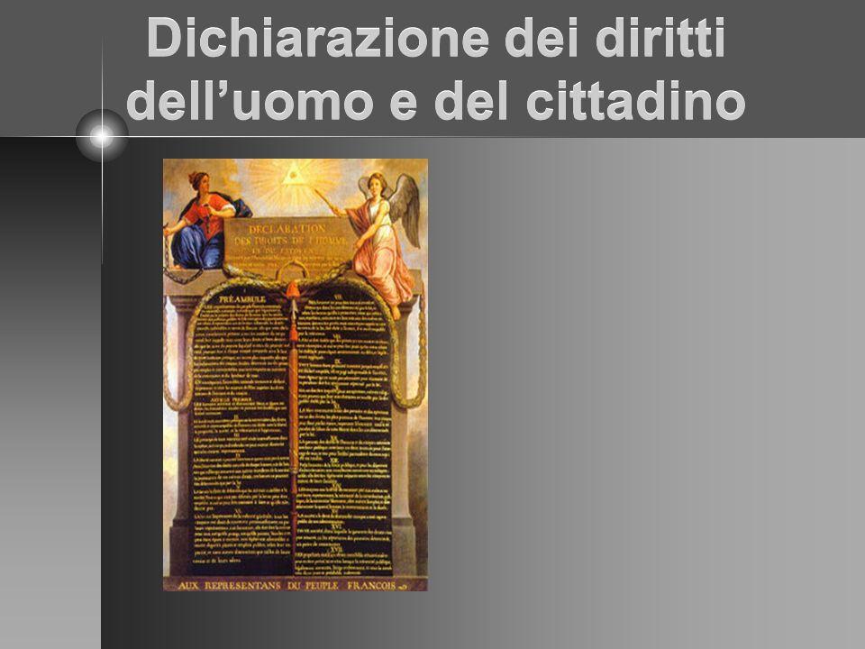 Dichiarazione dei diritti delluomo e del cittadino