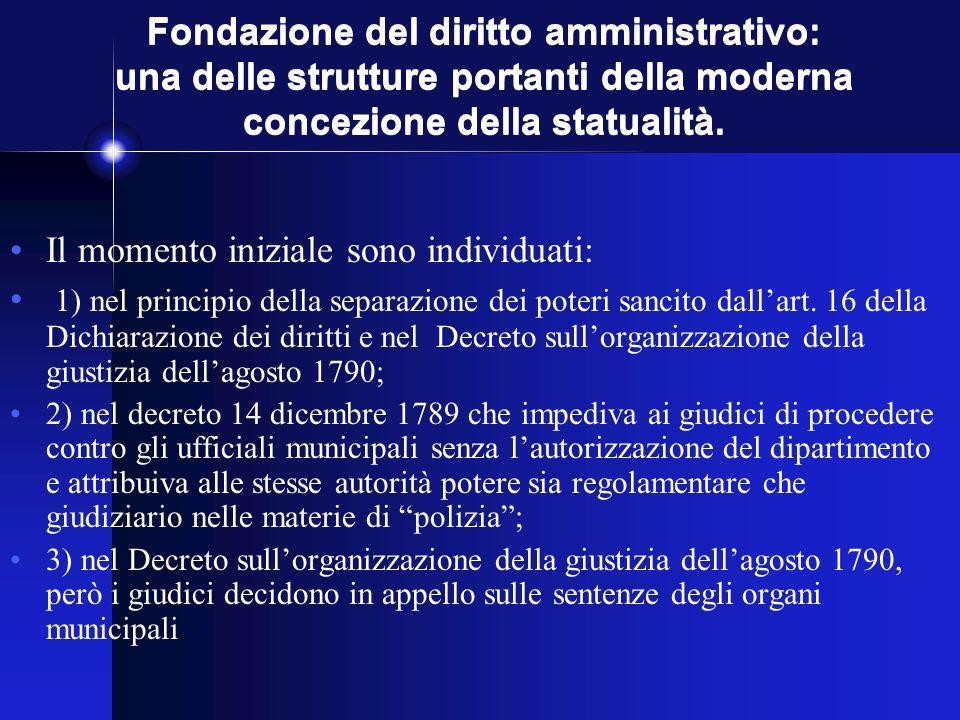 Fondazione del diritto amministrativo: una delle strutture portanti della moderna concezione della statualità.