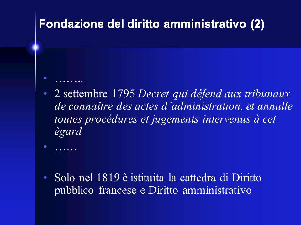 Fondazione del diritto amministrativo (2) ……..