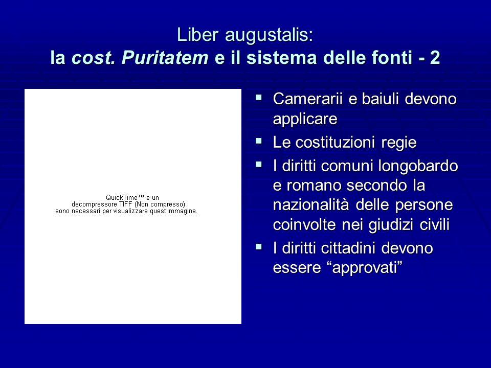 Liber augustalis: la cost.