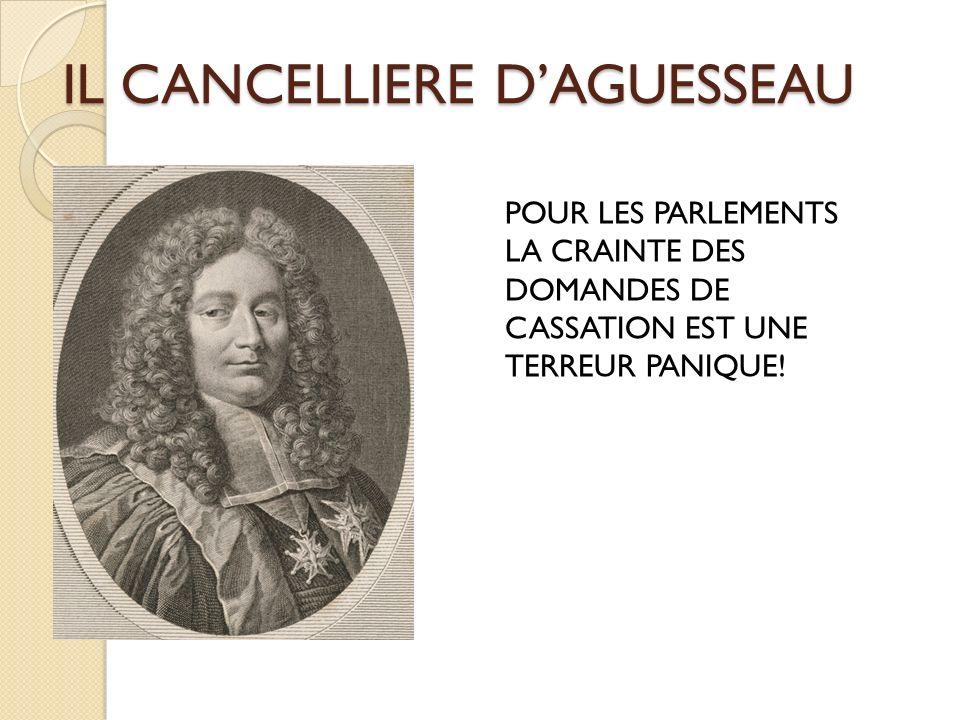 IL CANCELLIERE DAGUESSEAU POUR LES PARLEMENTS LA CRAINTE DES DOMANDES DE CASSATION EST UNE TERREUR PANIQUE!