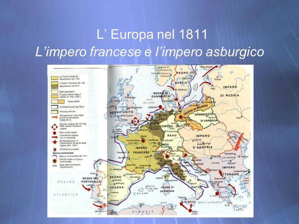L Europa nel 1811 Limpero francese e limpero asburgico