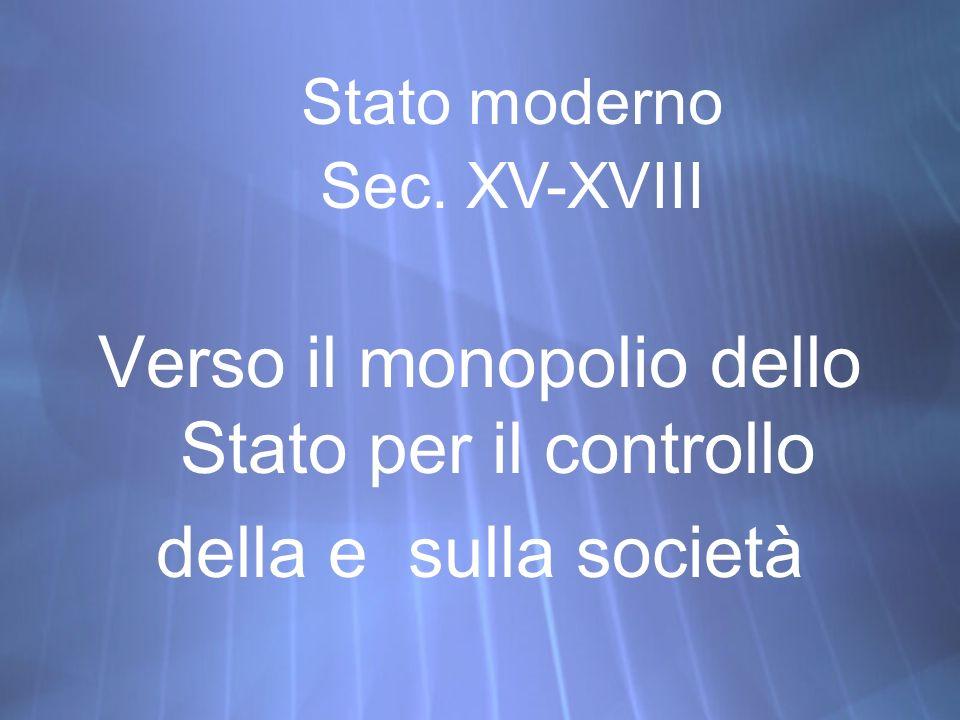 Verso il monopolio dello Stato per il controllo della e sulla società Verso il monopolio dello Stato per il controllo della e sulla società Stato mode