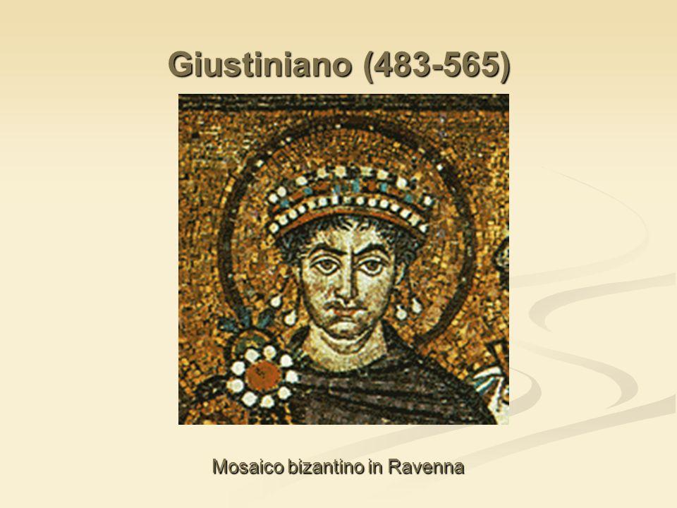 Giustiniano (483-565) Mosaico bizantino in Ravenna