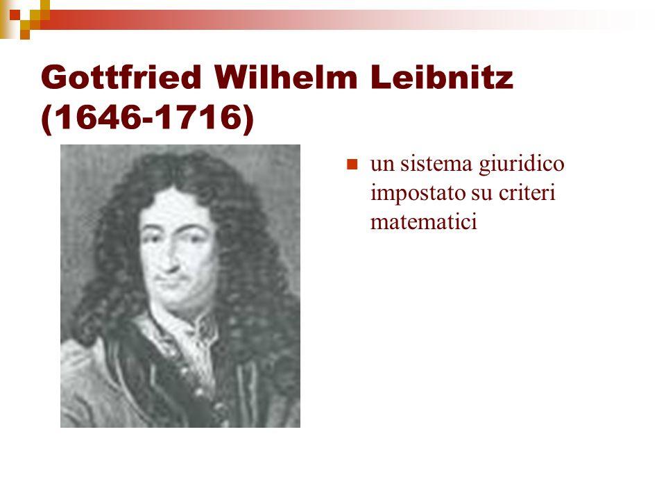 Gottfried Wilhelm Leibnitz (1646-1716) un sistema giuridico impostato su criteri matematici