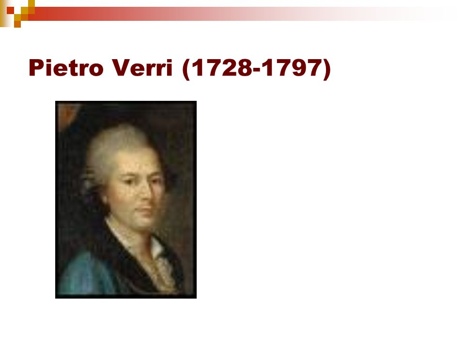 Pietro Verri (1728-1797)