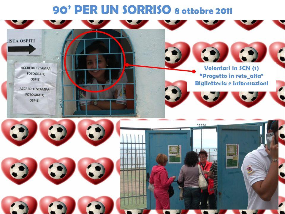 Volontari in SCN (1) Progetto in rete_alfa Biglietteria e informazioni 90 PER UN SORRISO 8 ottobre 2011