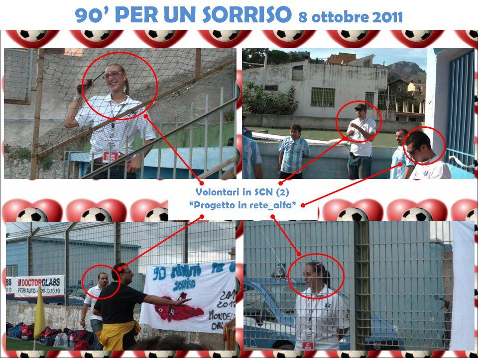 Volontari in SCN (2) Progetto in rete_alfa 90 PER UN SORRISO 8 ottobre 2011