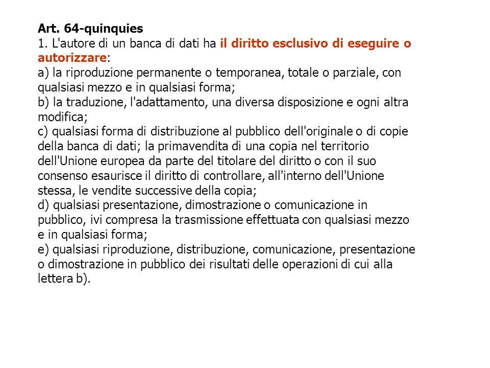 Art. 64-quinquies 1.