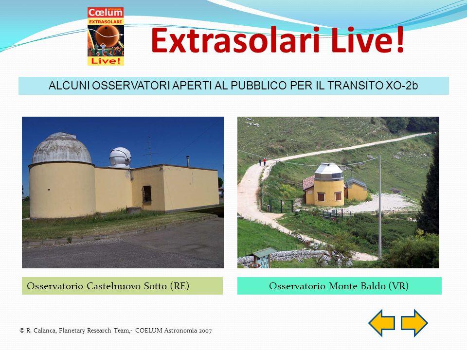 Extrasolari Live. ALCUNI OSSERVATORI APERTI AL PUBBLICO PER IL TRANSITO XO-2b © R.