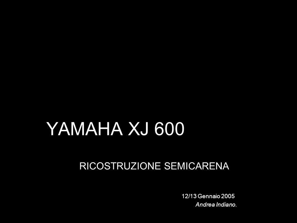 YAMAHA XJ 600 RICOSTRUZIONE SEMICARENA 12/13 Gennaio 2005 Andrea Indiano.
