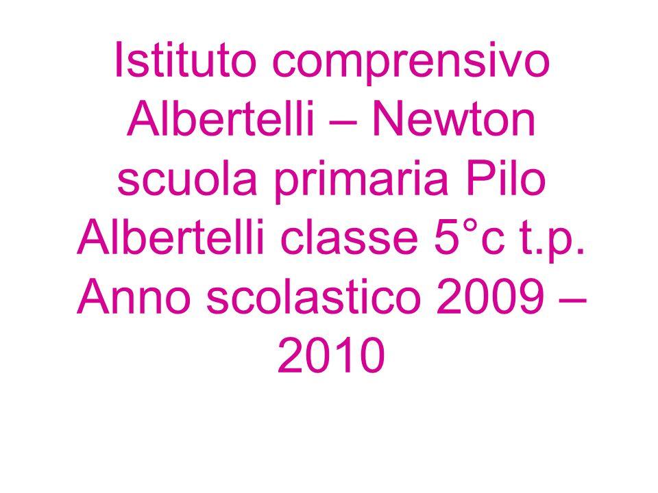 Istituto comprensivo Albertelli – Newton scuola primaria Pilo Albertelli classe 5°c t.p. Anno scolastico 2009 – 2010