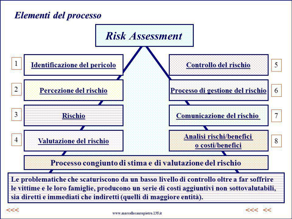 Risk Assessment Processo congiunto di stima e di valutazione del rischio.