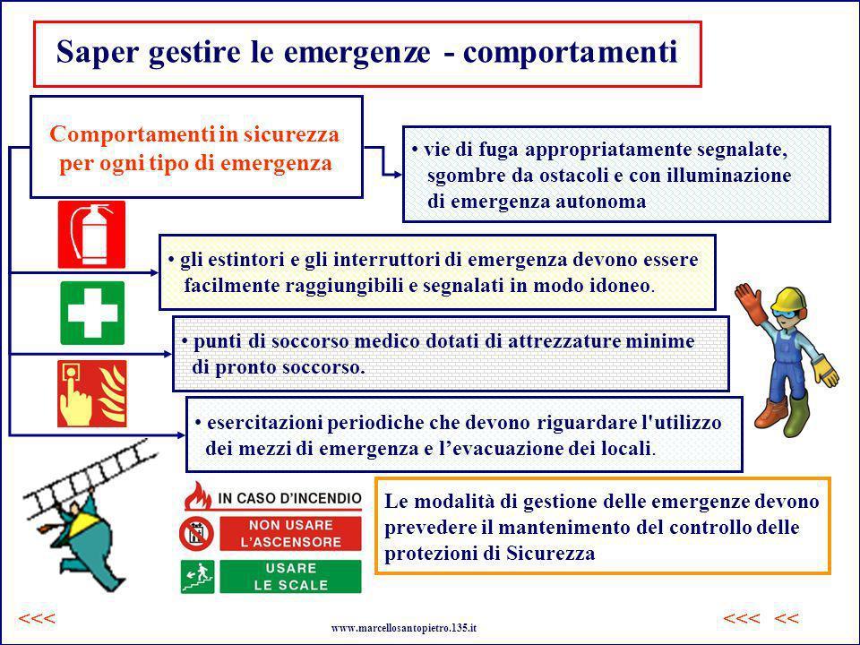 esercitazioni periodiche che devono riguardare l'utilizzo dei mezzi di emergenza e levacuazione dei locali. Saper gestire le emergenze - comportamenti