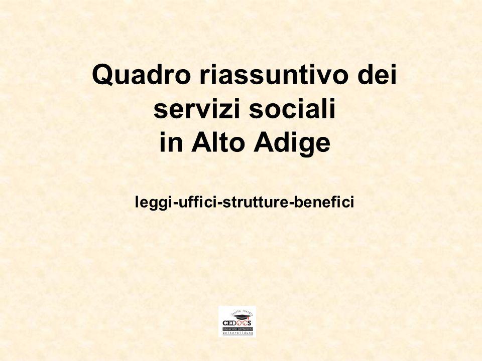 2 Competenze della Provincia Competenza legislativa primaria Alla Provincia Autonoma di Bolzano è stata attribuita competenza legislativa primaria nel settore dellassistenza e beneficenza pubblica.