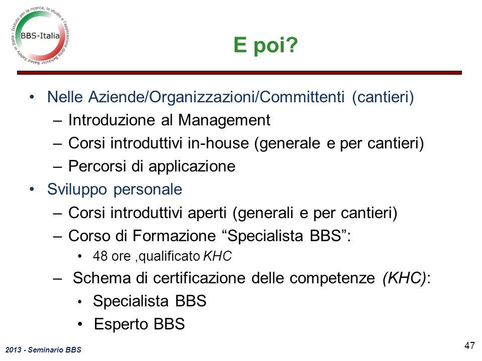 2013 - Seminario BBS E poi.