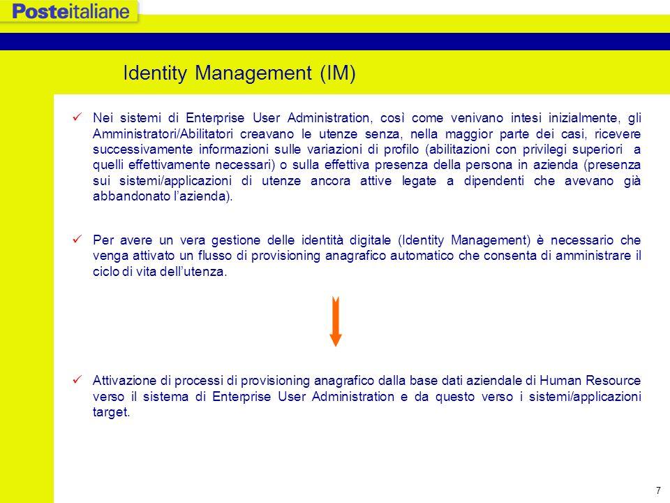 8 Identity Management: architettura User provisioning