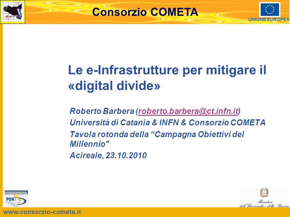 Acireale, Tavola rotonda della Campagna Obiettivi del Millennio , 23.10.2010 2 Sommario Concetti introduttivi Le e-Infrastrutture per le-Scienza Il «Triangolo della Conoscenza» Conclusioni