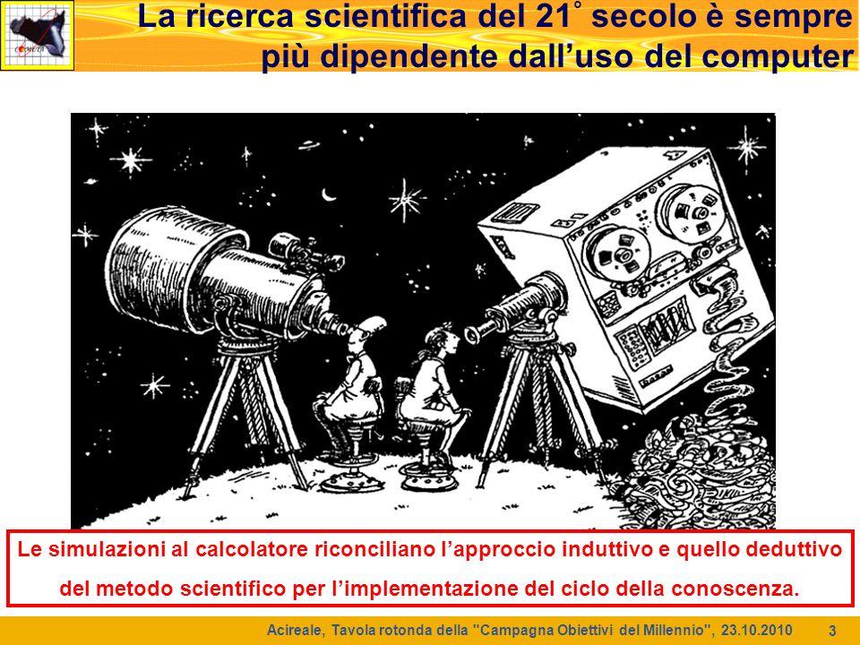 4 La ricerca scientifica del 21 ° secolo è sempre più dipendente dalluso del computer Acireale, Tavola rotonda della Campagna Obiettivi del Millennio , 23.10.2010