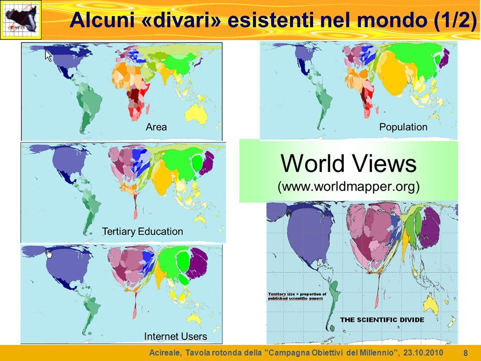 9 Alcuni «divari» esistenti nel mondo (2/2) maps.maplecroft.com Acireale, Tavola rotonda della Campagna Obiettivi del Millennio , 23.10.2010