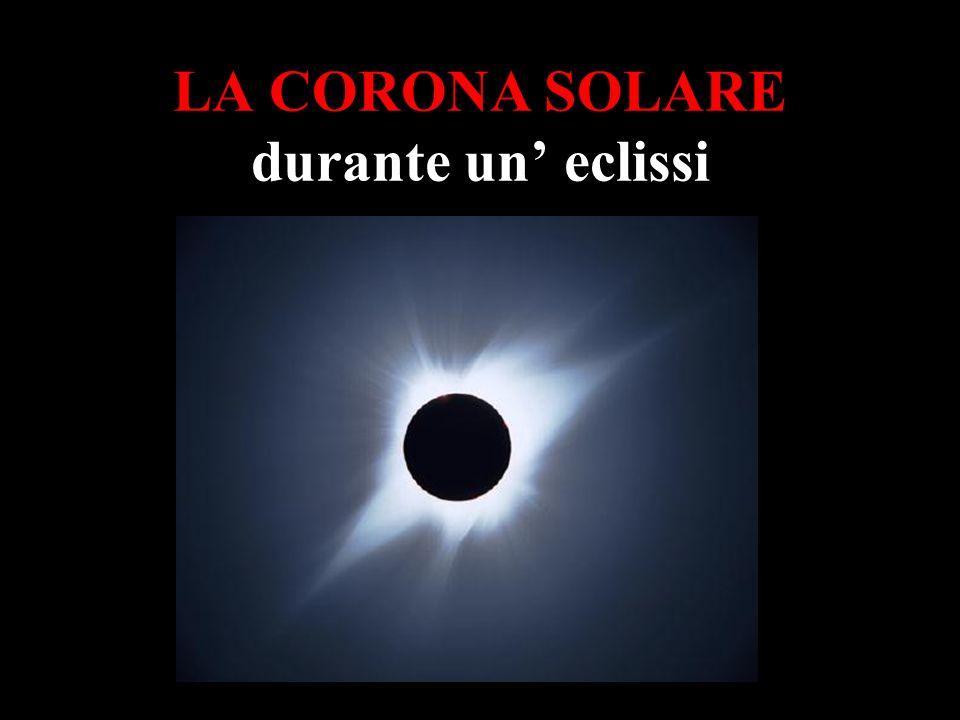 LA CORONA SOLARE durante un eclissi