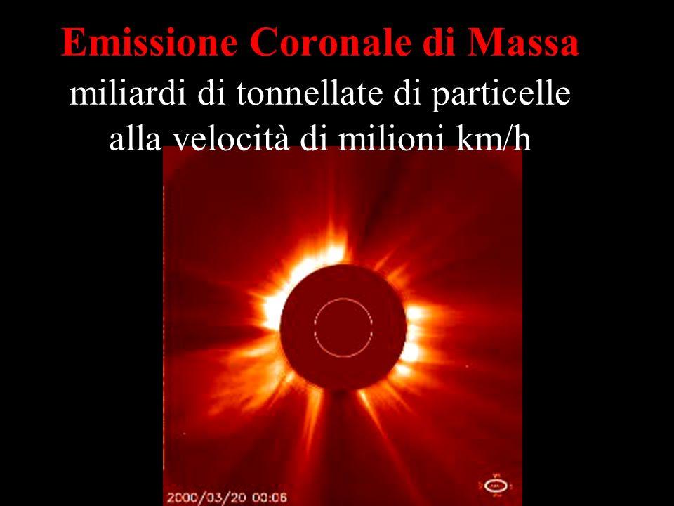 Emissione Coronale di Massa miliardi di tonnellate di particelle alla velocità di milioni km/h