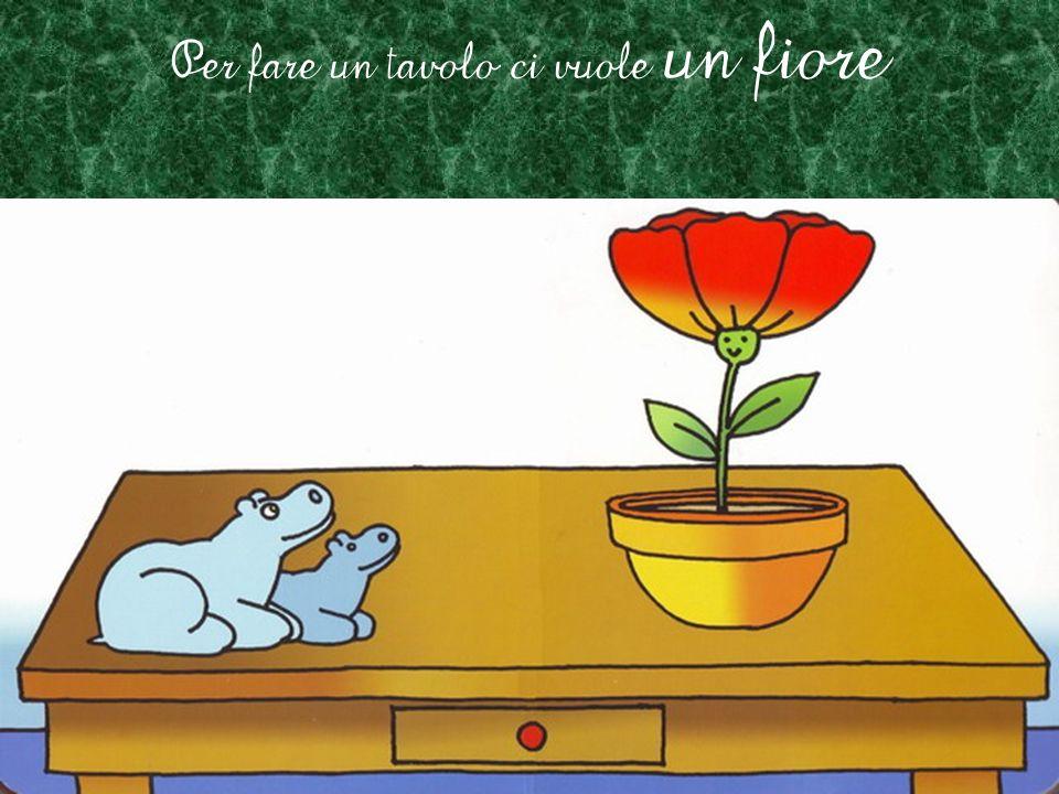 Per fare il frutto ci vuole un fiore, ci vuole un fiore, ci vuole un fiore