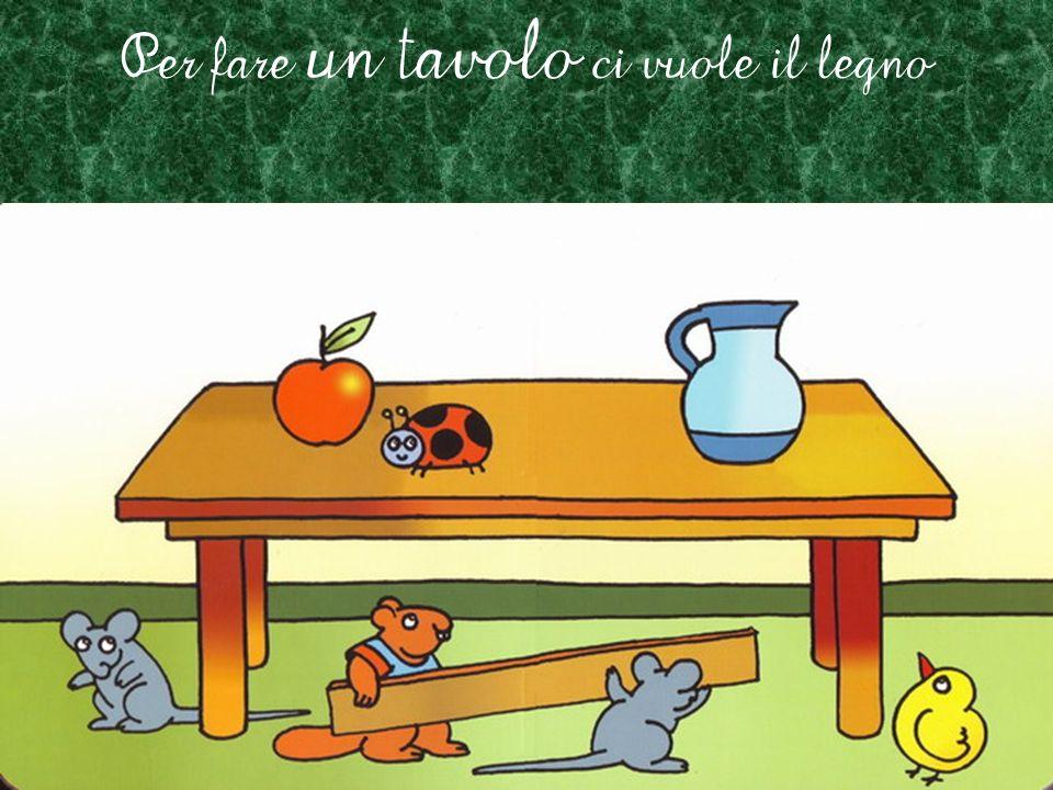 Per fare un tavolo ci vuole il legno