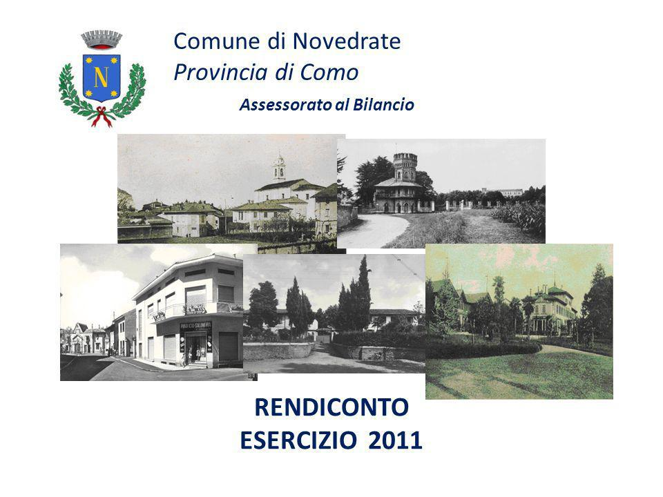 Comune di Novedrate Provincia di Como Assessorato al Bilancio RENDICONTO ESERCIZIO 2011