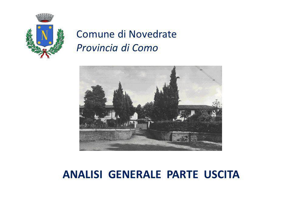 Comune di Novedrate Provincia di Como ANALISI GENERALE PARTE USCITA