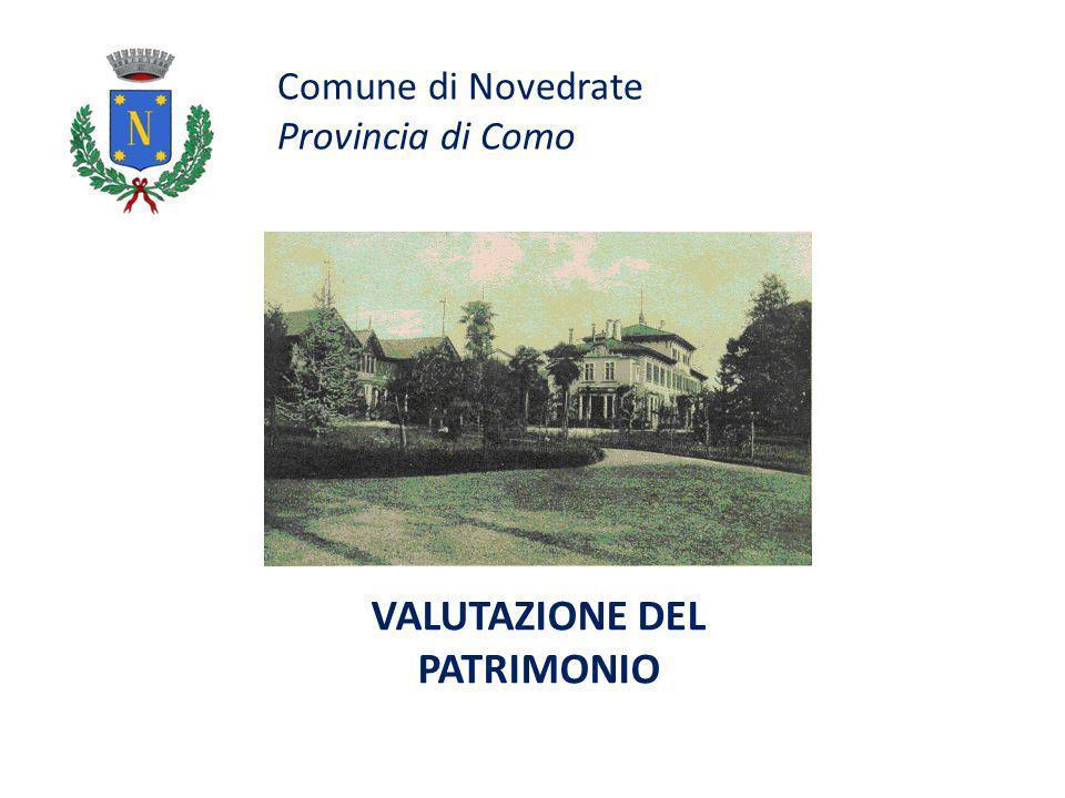 Comune di Novedrate Provincia di Como VALUTAZIONE DEL PATRIMONIO