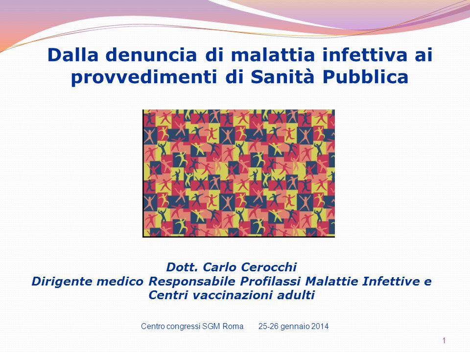 IL DECRETO MINISTERO della SANITA: 15 dicembre 1990 suddivide le malattie infettive in 5 classi con differenti flussi informativi in base alla gravità.