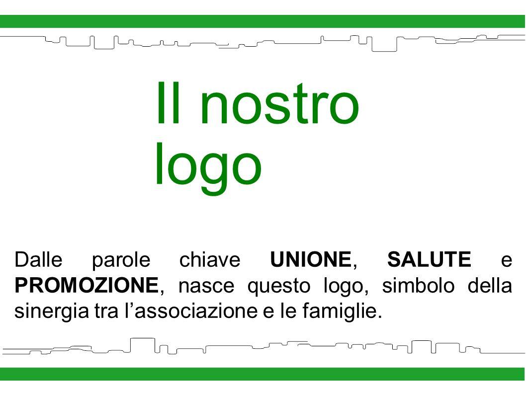 Il nostro logo Dalle parole chiave UNIONE, SALUTE e PROMOZIONE, nasce questo logo, simbolo della sinergia tra lassociazione e le famiglie.
