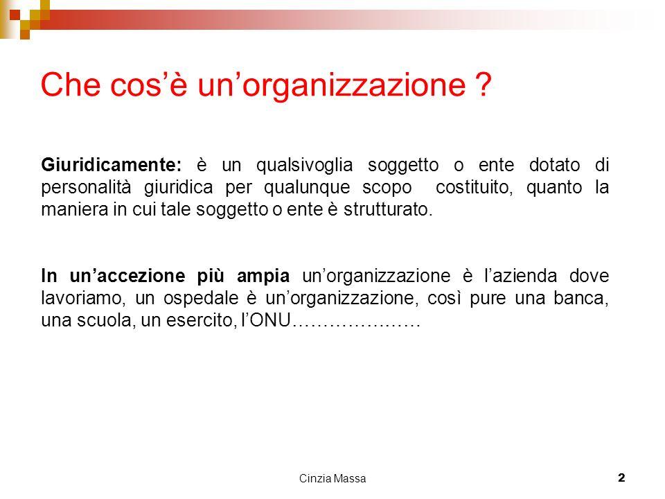 Cinzia Massa3 Comunicare nelle organizzazioni La comunicazione è uno strumento dellintera organizzazione.