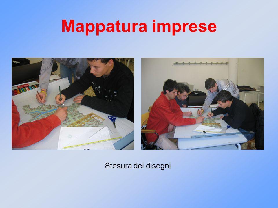 Mappatura imprese Stesura dei disegni