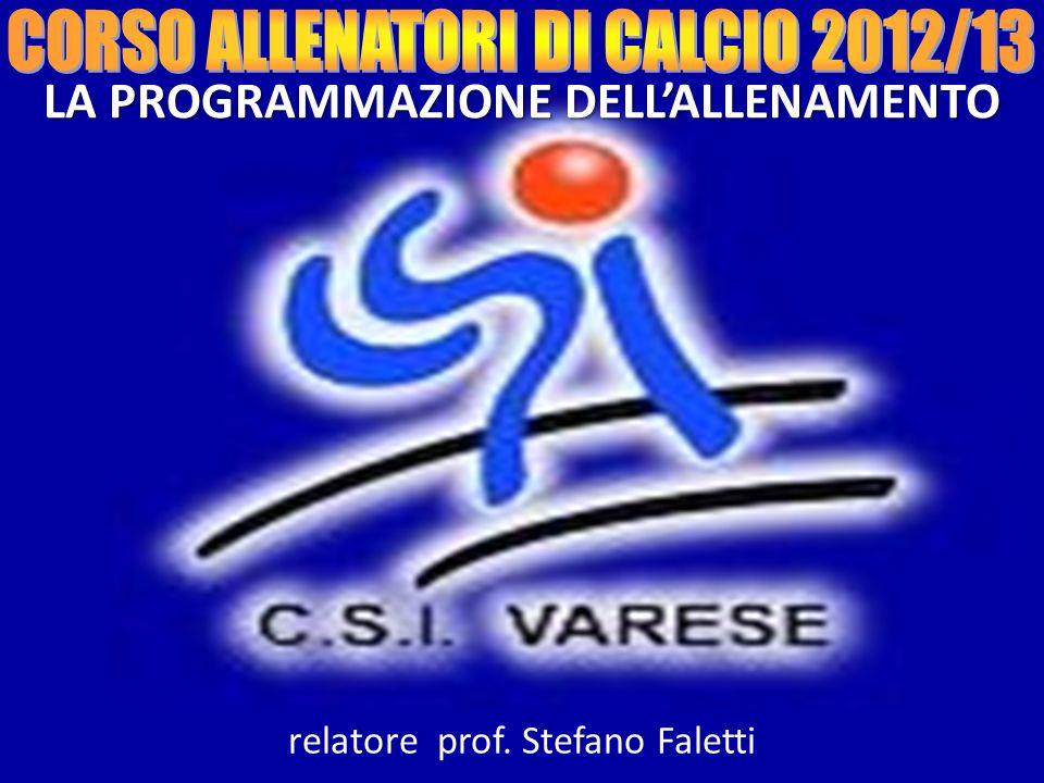LA PROGRAMMAZIONE DELLALLENAMENTO relatore prof. Stefano Faletti