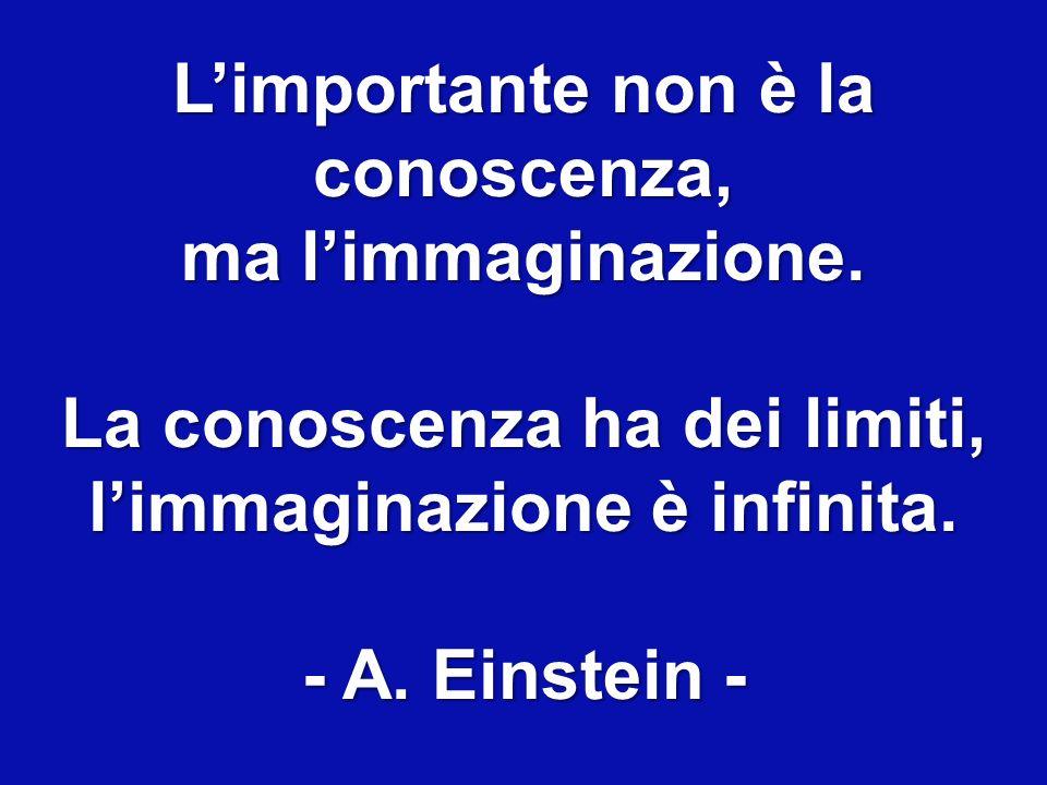 Limportante non è la conoscenza, ma limmaginazione.