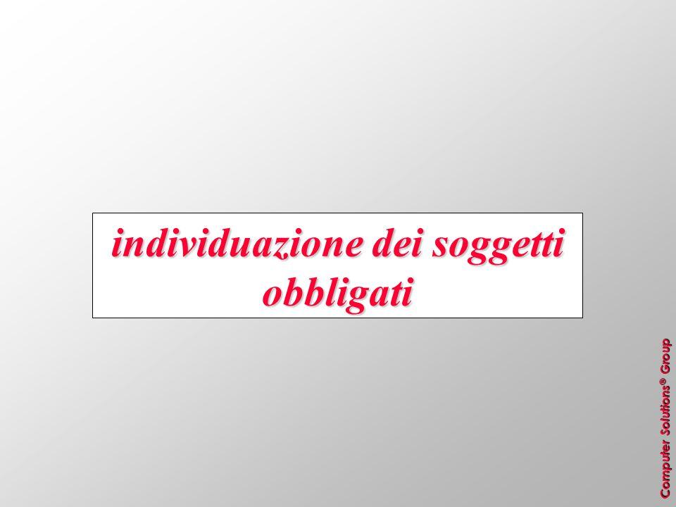 Computer Solutions ® Group MUD imballaggi (séguito) + imballaggi prodotti (compresi quelli autoprodotti) + – imballaggi importati – = imballaggi esportati = stima dei rifiuti di imballaggio prodotti in Italia Pertanto