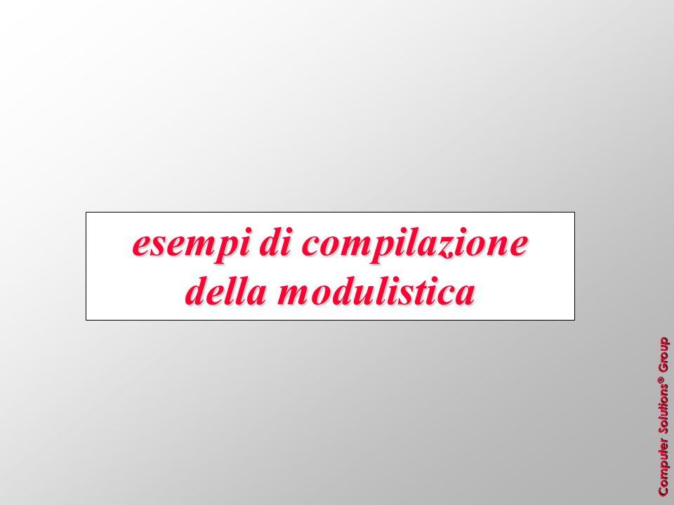 Computer Solutions ® Group esempi di compilazione della modulistica