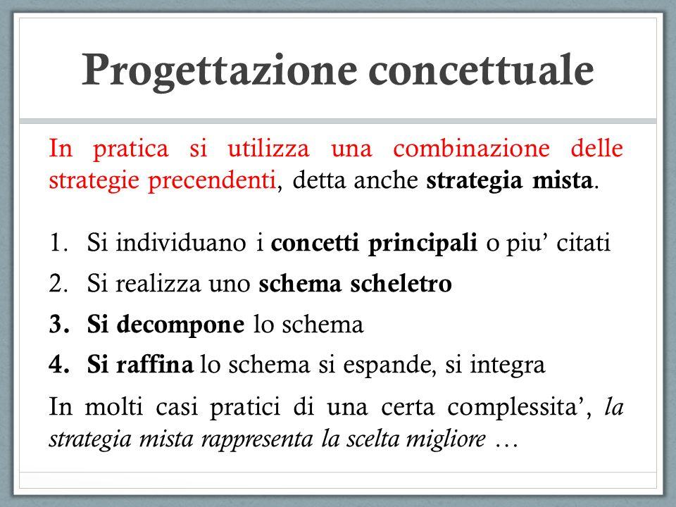 In pratica si utilizza una combinazione delle strategie precendenti, detta anche strategia mista. 1.Si individuano i concetti principali o piu citati
