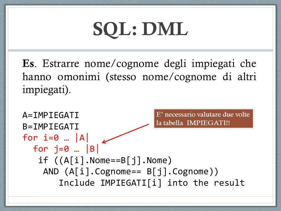 SQL: DML Es.