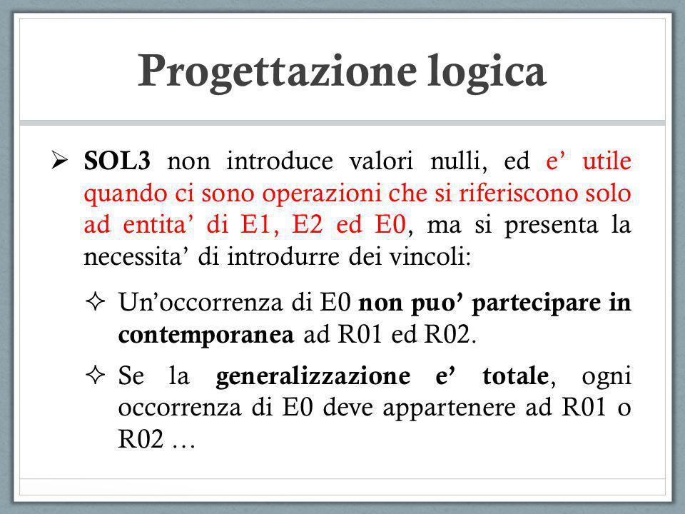SOL3 non introduce valori nulli, ed e utile quando ci sono operazioni che si riferiscono solo ad entita di E1, E2 ed E0, ma si presenta la necessita d