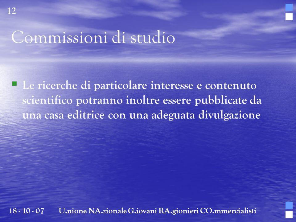Le ricerche di particolare interesse e contenuto scientifico potranno inoltre essere pubblicate da una casa editrice con una adeguata divulgazione 18