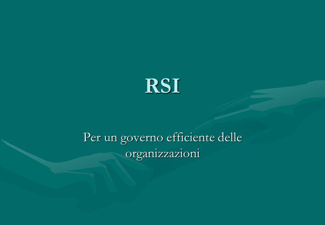 RSI Per un governo efficiente delle organizzazioni